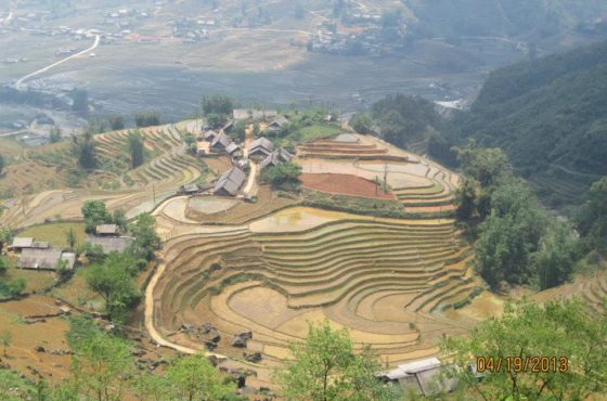 H'Mong Tribeswomen, Lush Mountains and Rice Paddies in Sapa